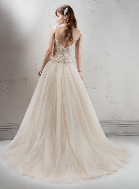 Back of Fontaine Wedding Dress - Sottero and Midgley Fall 2014 Bridal Collection