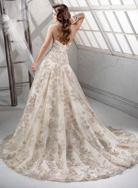 Back of Garland Wedding Dress - Sottero and Midgley Fall 2014 Bridal Collection