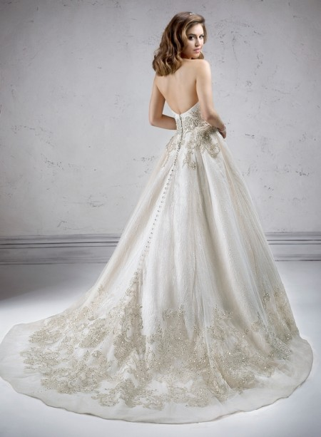 Back of Marcela Wedding Dress - Sottero and Midgley Fall 2014 Bridal Collection