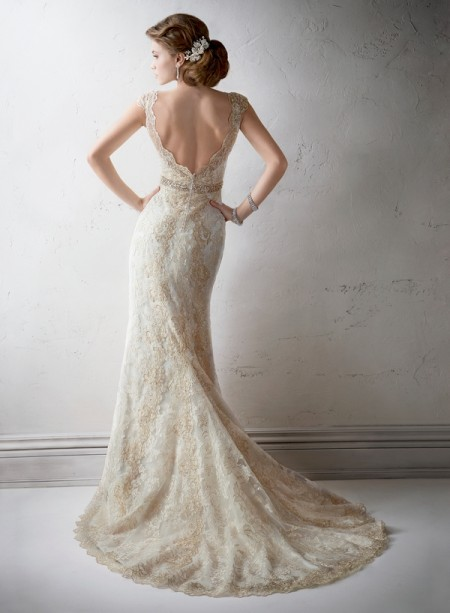 Back of Marisol Wedding Dress - Sottero and Midgley Fall 2014 Bridal Collection