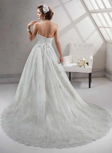 Back of Noreen Wedding Dress - Sottero and Midgley Fall 2014 Bridal Collection