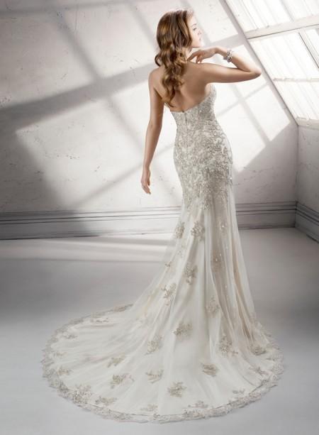 Back of Pamela Wedding Dress - Sottero and Midgley Fall 2014 Bridal Collection