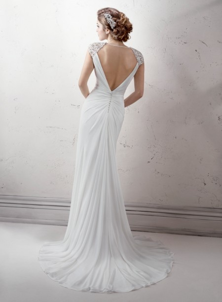 Back of Rosemary Wedding Dress - Sottero and Midgley Fall 2014 Bridal Collection