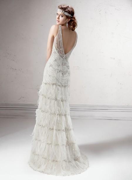 Back of Shauna Wedding Dress - Sottero and Midgley Fall 2014 Bridal Collection