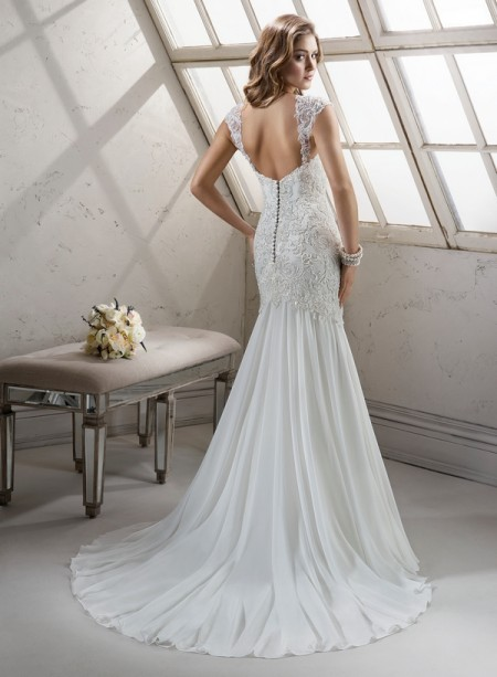 Back of Summer Wedding Dress - Sottero and Midgley Fall 2014 Bridal Collection