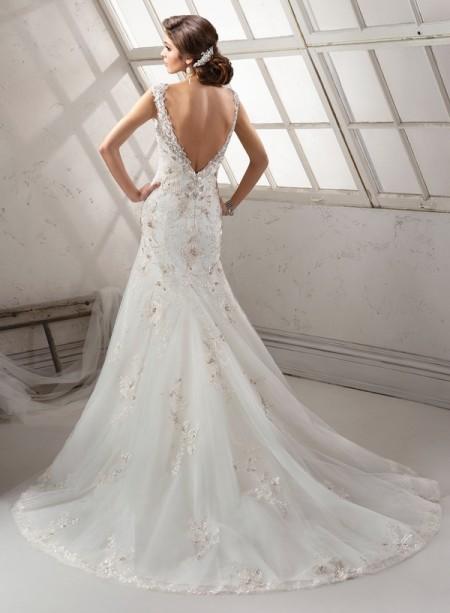 Back of Vidal Wedding Dress - Sottero and Midgley Fall 2014 Bridal Collection