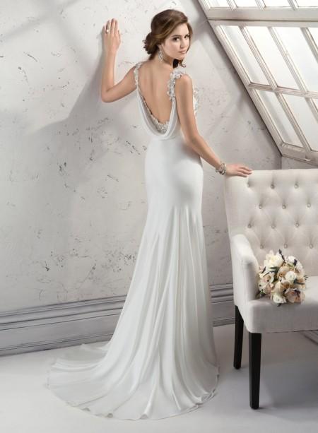 Back of Viola Wedding Dress - Sottero and Midgley Fall 2014 Bridal Collection
