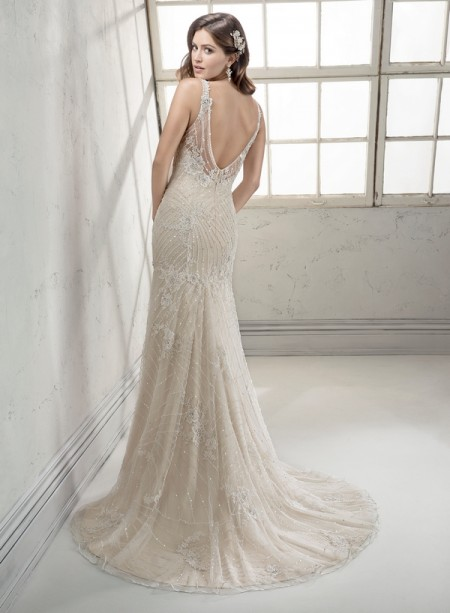 Back of Vogue Wedding Dress - Sottero and Midgley Fall 2014 Bridal Collection
