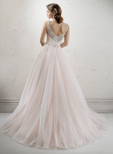Back of Whitney Wedding Dress - Sottero and Midgley Fall 2014 Bridal Collection