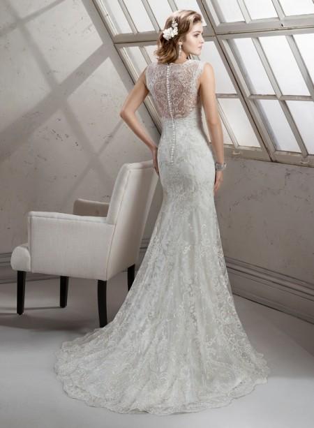 Back of Yara Wedding Dress - Sottero and Midgley Fall 2014 Bridal Collection