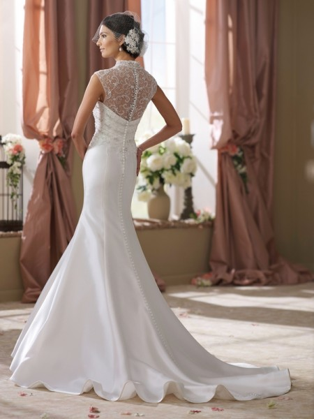 Back of 214201 Shawn Wedding Dress - David Tutera for Mon Cheri Fall 2014 Bridal Collection