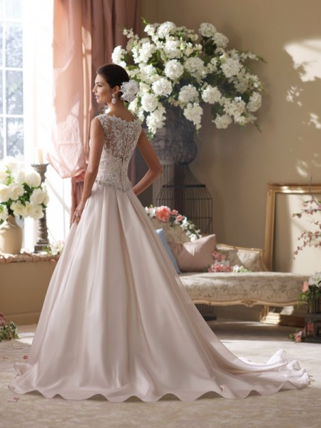 Back of 214202 Tenley Wedding Dress - David Tutera for Mon Cheri Fall 2014 Bridal Collection