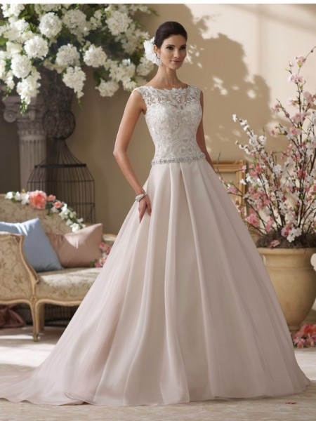 214202 Tenley Wedding Dress - David Tutera for Mon Cheri Fall 2014 Bridal Collection