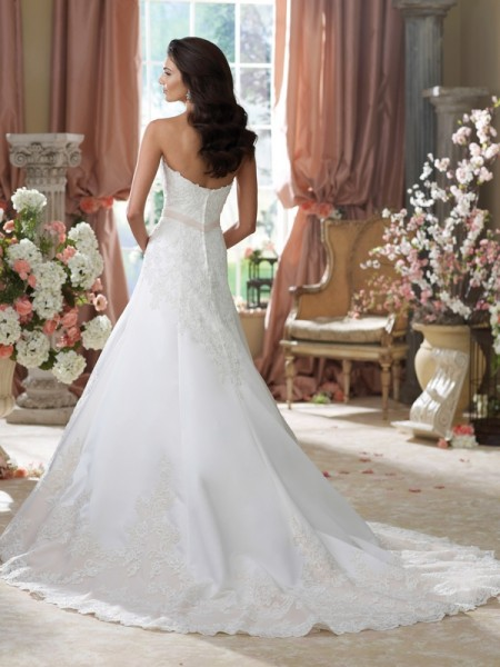 Back of 214203 Nastia Wedding Dress - David Tutera for Mon Cheri Fall 2014 Bridal Collection