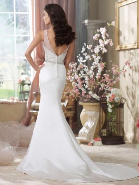 Back of 214205 Peggy Wedding Dress - David Tutera for Mon Cheri Fall 2014 Bridal Collection