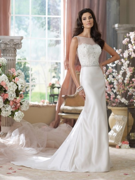 214205 Peggy Wedding Dress - David Tutera for Mon Cheri Fall 2014 Bridal Collection