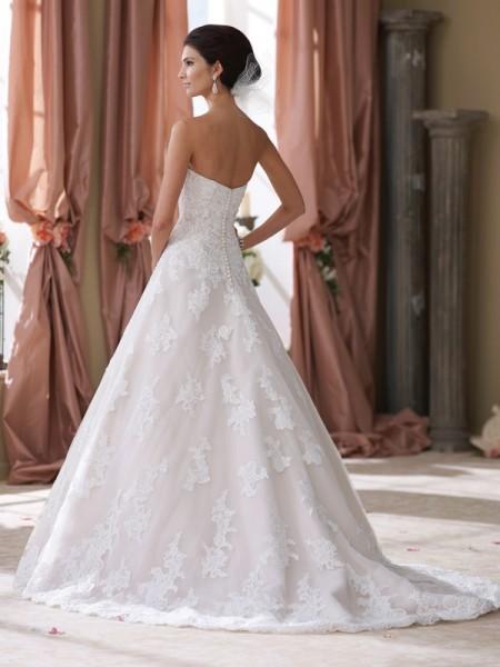 Back of 214206 Wyomia Wedding Dress - David Tutera for Mon Cheri Fall 2014 Bridal Collection