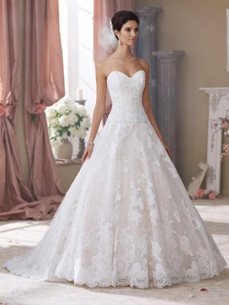 214206 Wyomia Wedding Dress - David Tutera for Mon Cheri Fall 2014 Bridal Collection