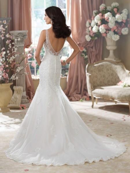 Back of 214207 Aly Wedding Dress - David Tutera for Mon Cheri Fall 2014 Bridal Collection