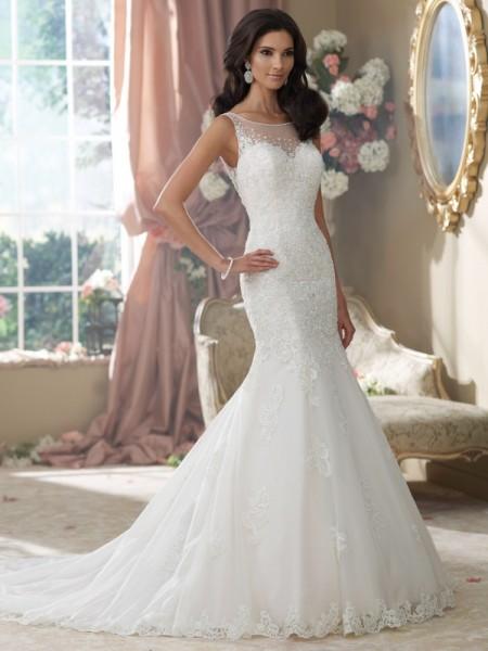 214207 Aly Wedding Dress - David Tutera for Mon Cheri Fall 2014 Bridal Collection