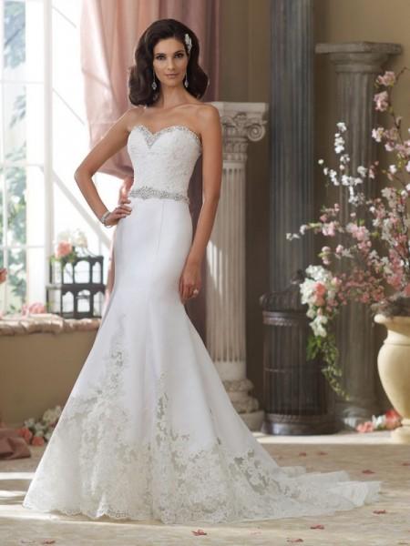 214208 Micki Wedding Dress - David Tutera for Mon Cheri Fall 2014 Bridal Collection