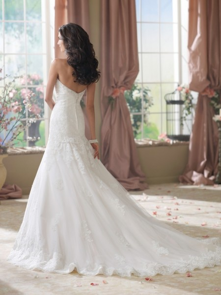 Back of 214210 Beezie Wedding Dress - David Tutera for Mon Cheri Fall 2014 Bridal Collection