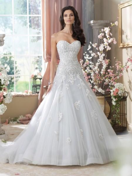 214212 Kristi Wedding Dress - David Tutera for Mon Cheri Fall 2014 Bridal Collection