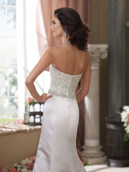 Back of 214213 Mildrette Wedding Dress - David Tutera for Mon Cheri Fall 2014 Bridal Collection