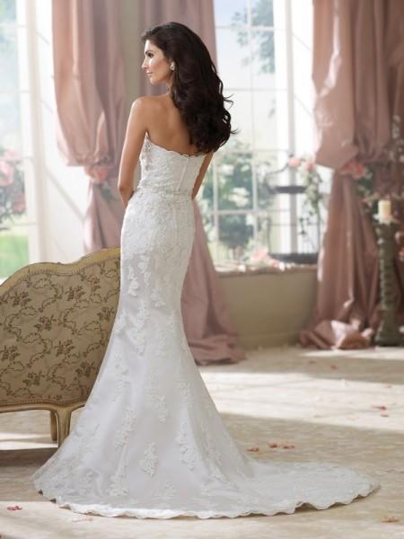 Back of 214214 Kerri Wedding Dress - David Tutera for Mon Cheri Fall 2014 Bridal Collection
