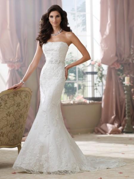 214214 Kerri Wedding Dress - David Tutera for Mon Cheri Fall 2014 Bridal Collection