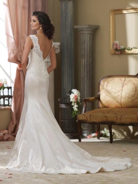 Back of 214216 Gabby Wedding Dress - David Tutera for Mon Cheri Fall 2014 Bridal Collection