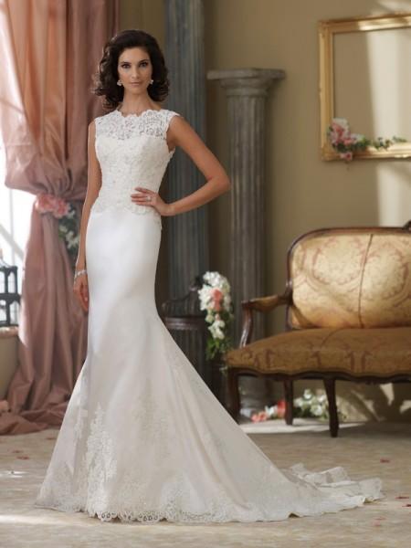 214216 Gabby Wedding Dress - David Tutera for Mon Cheri Fall 2014 Bridal Collection