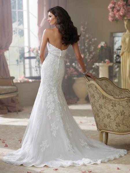 Back of 214217 Wilma Wedding Dress - David Tutera for Mon Cheri Fall 2014 Bridal Collection