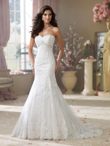 214217 Wilma Wedding Dress - David Tutera for Mon Cheri Fall 2014 Bridal Collection