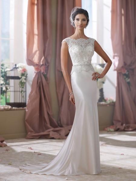 214218 Dorothy Wedding Dress - David Tutera for Mon Cheri Fall 2014 Bridal Collection
