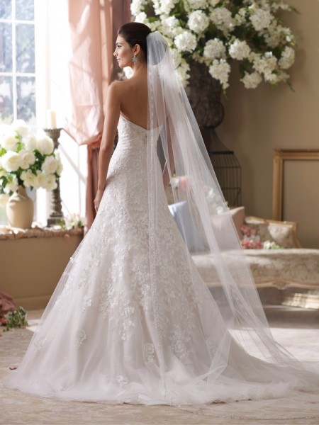 Back of 214219 Picabo Wedding Dress - David Tutera for Mon Cheri Fall 2014 Bridal Collection