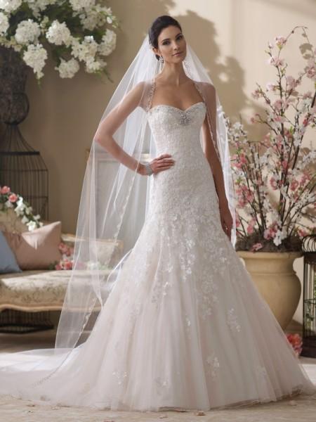 214219 Picabo Wedding Dress - David Tutera for Mon Cheri Fall 2014 Bridal Collection