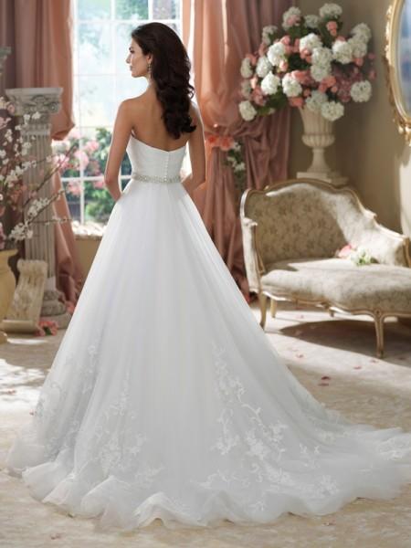 Back of 214221 Jearl Wedding Dress - David Tutera for Mon Cheri Fall 2014 Bridal Collection