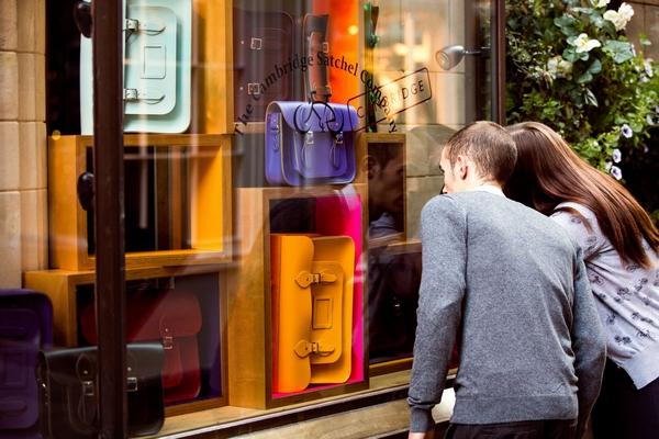 Couple looking in shop window