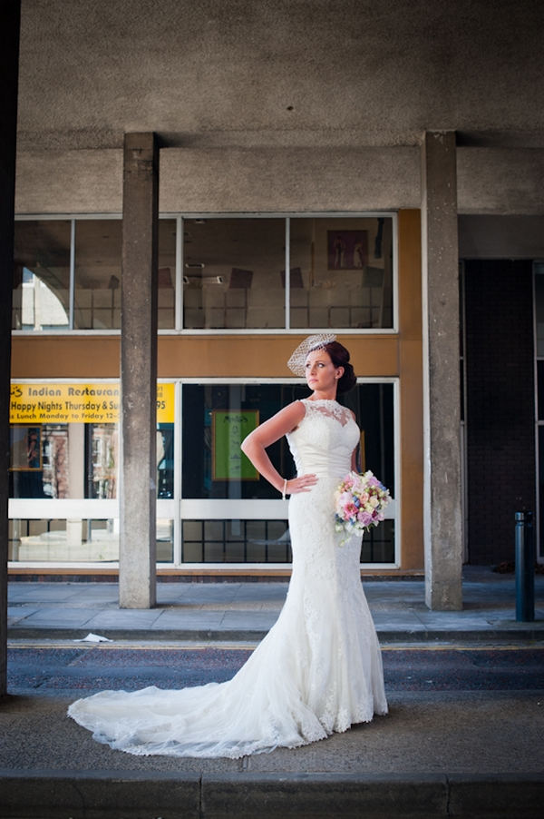 Bride with hand on hip