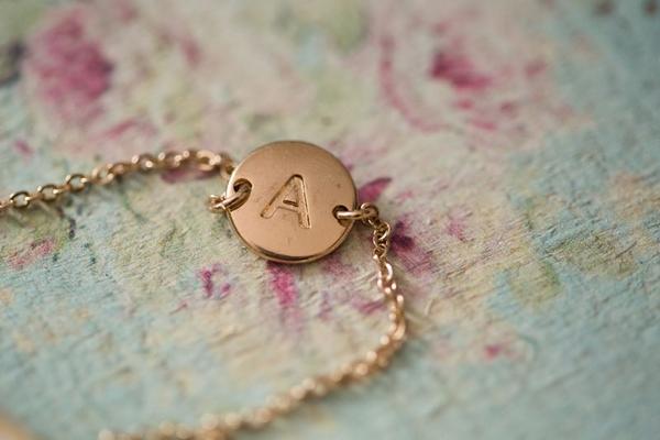 Letter A pendant