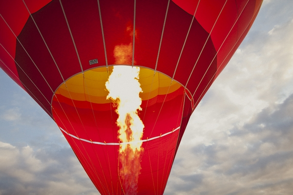 Flame of hot air balloon