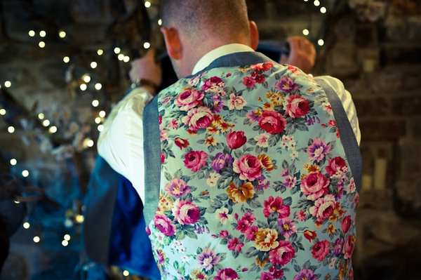 Groom with floral waistcoat