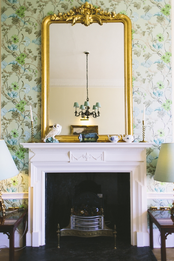 Fireplace at Deer Park Country House Hotel
