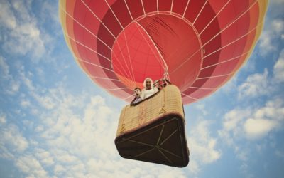 An Engagement Shoot in a Hot Air Balloon
