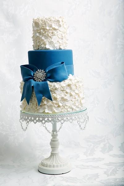 Deepest Blue Wedding Cake - Jessica Lauren Cakes