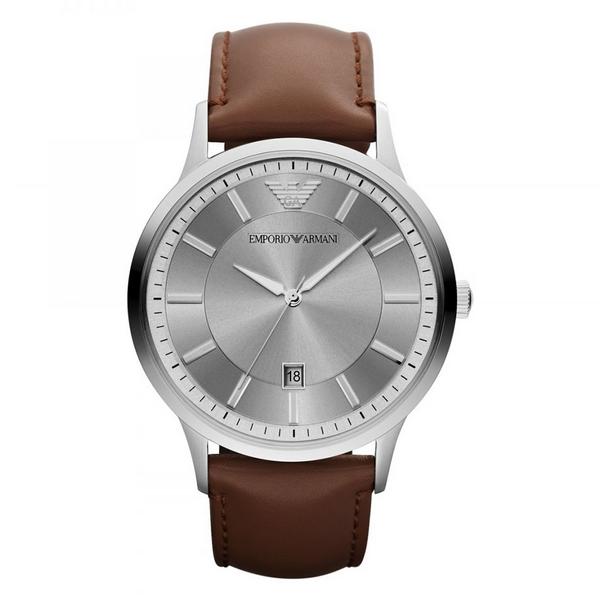 Emporio Armani - AR2463 Renato Brown Chronograph Strap Watch