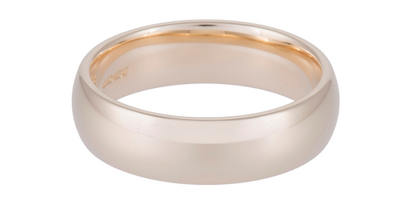 Gents 9ct Yellow Gold 6mm Heavy Court Wedding Band