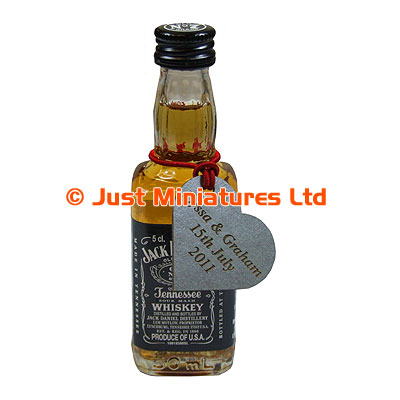 Jack Daniels with Personalised Neck Tag - Just Miniatures