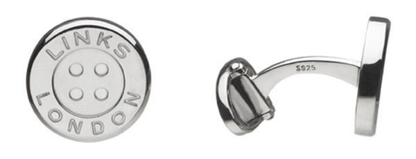 Links of London - 2516.0257 Silver Button T-Bar Cufflinks